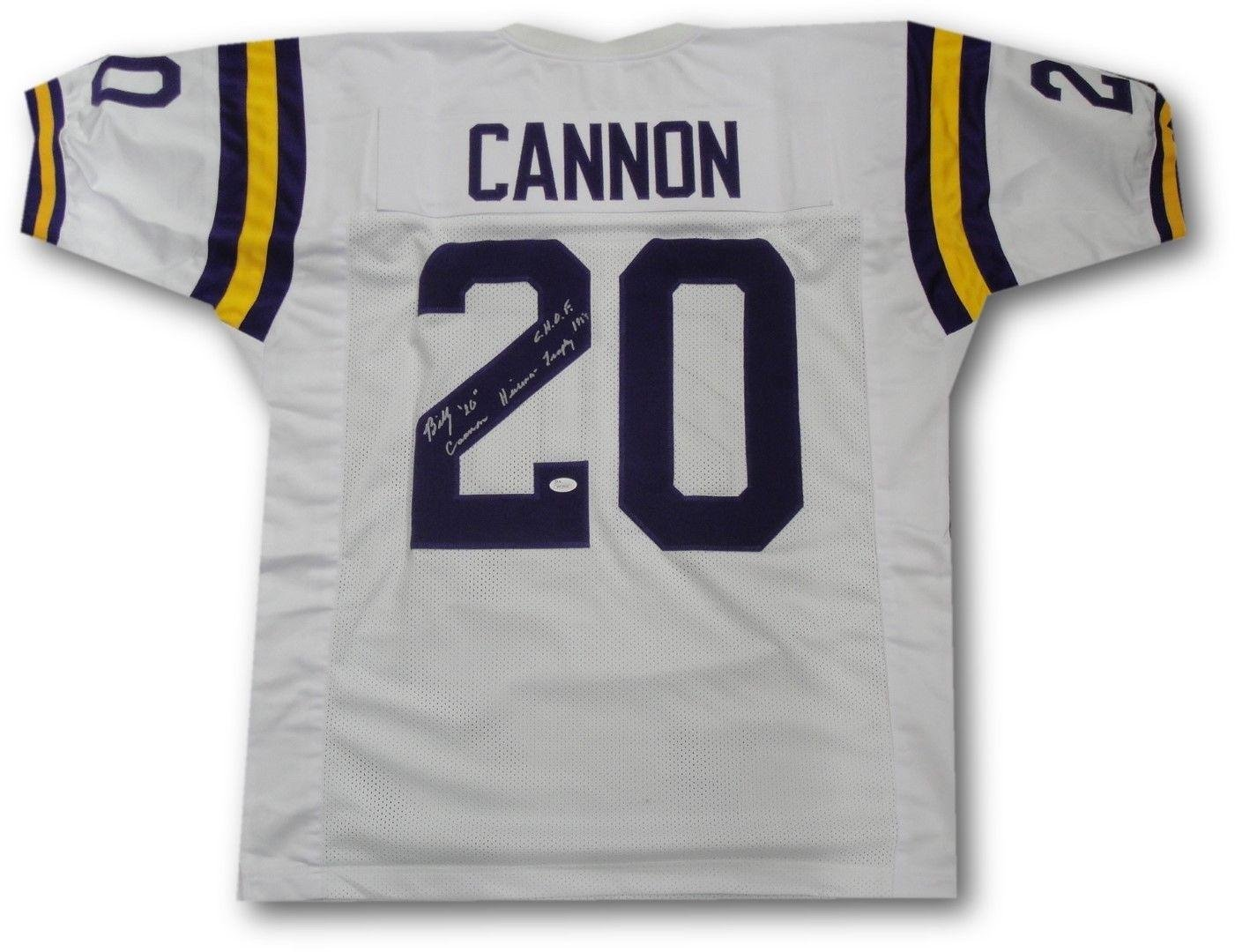 091d00484 Amazon.com: Signed Billy Cannon Jersey - Full Size Football #20 Heisman LSA  - JSA Certified - Autographed College Jerseys: Sports Collectibles