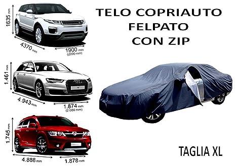 Impermeabile Menitashop Felpato Copri Auto Copriauto Telo Con Zip mNn0v8wO