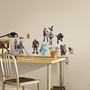 RoomMates Zelda: Ocarina Of Time 3D Peel And Stick Wall Decals,Multicolor