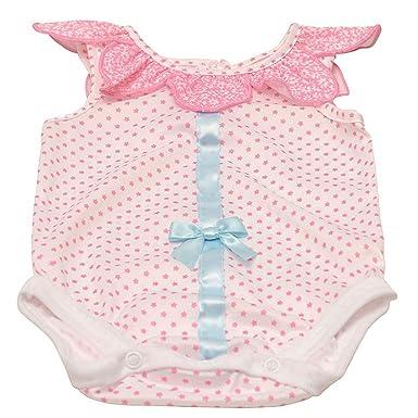 c2be19dc78b2 Laura Dare Baby Girls Pink Petal Detail Satin Ribbon Bow Bodysuit 12 ...