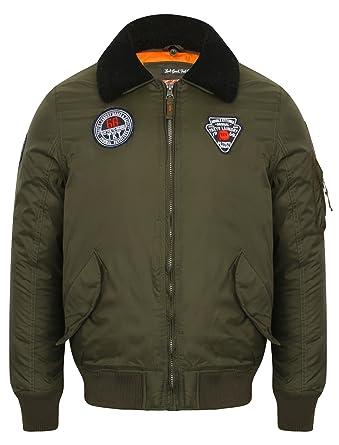 Herren Bomber Tokyo Laundry Jacke Aviator fliegend Mantel