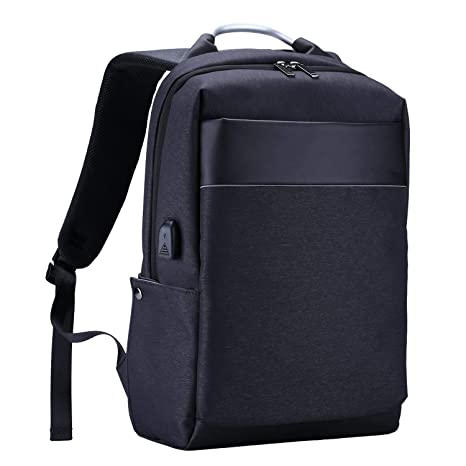 HLLZL Mochila para computadora portátil, mochila resistente al agua para computadora de viaje con puerto