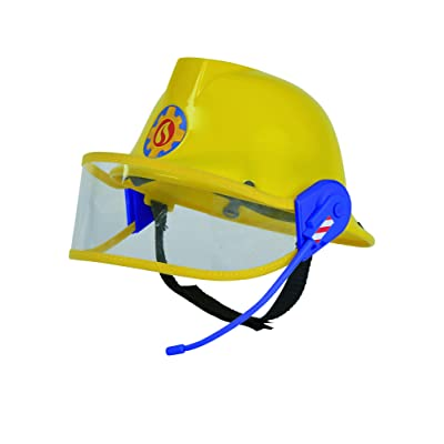 "Simba 109258698"" Fireman Sam Helmet with Microphone, Yellow: Toys & Games"