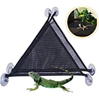 MICOKAY 2 Pack Bearded Dragon Lizards Hammock Triangle Shape with Strong Suction Cup Reptile Hammock Decor Accessories…