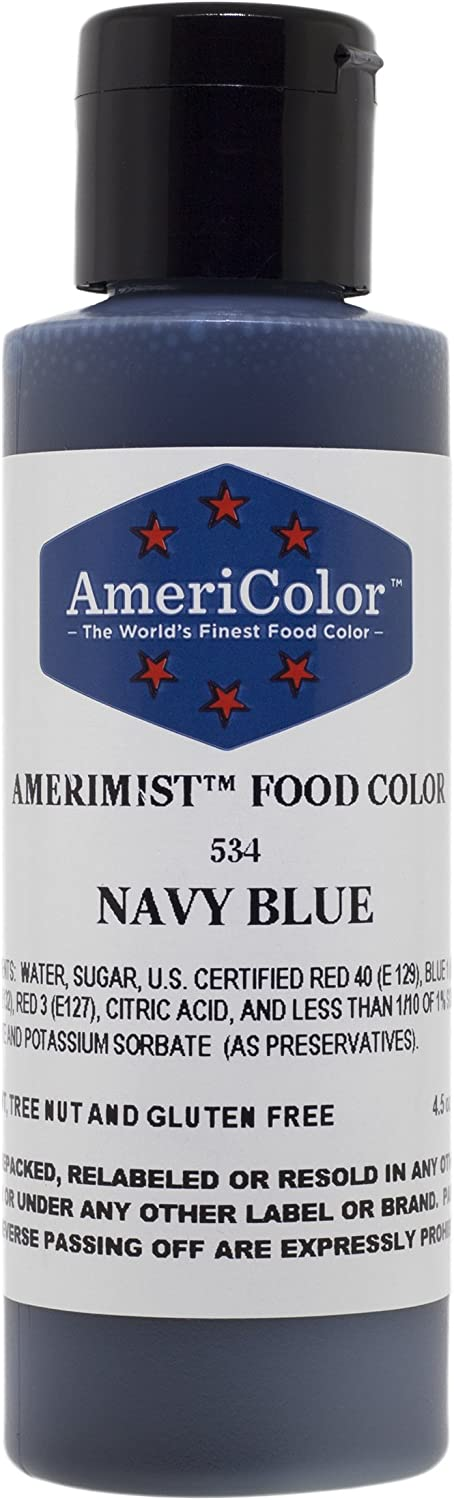 AMERIMIST NAVY BLUE AIRBRUSH COLOR 4.5 OZ Cake Decorating Color