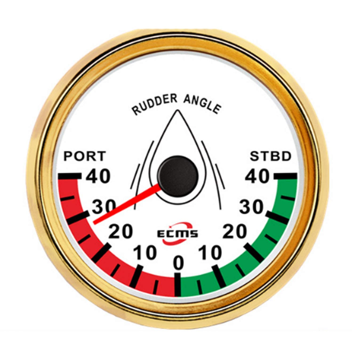 Low Power Consumption Universal Analog Rudder Angle Indicator Gauge Meter Marine Ship Boat Yacht 0-190ohm Signal with Rudder Sensor 85mm (3-3/8''), Waterproof, Lightning-Proof by JUNJIAGAO-gauge