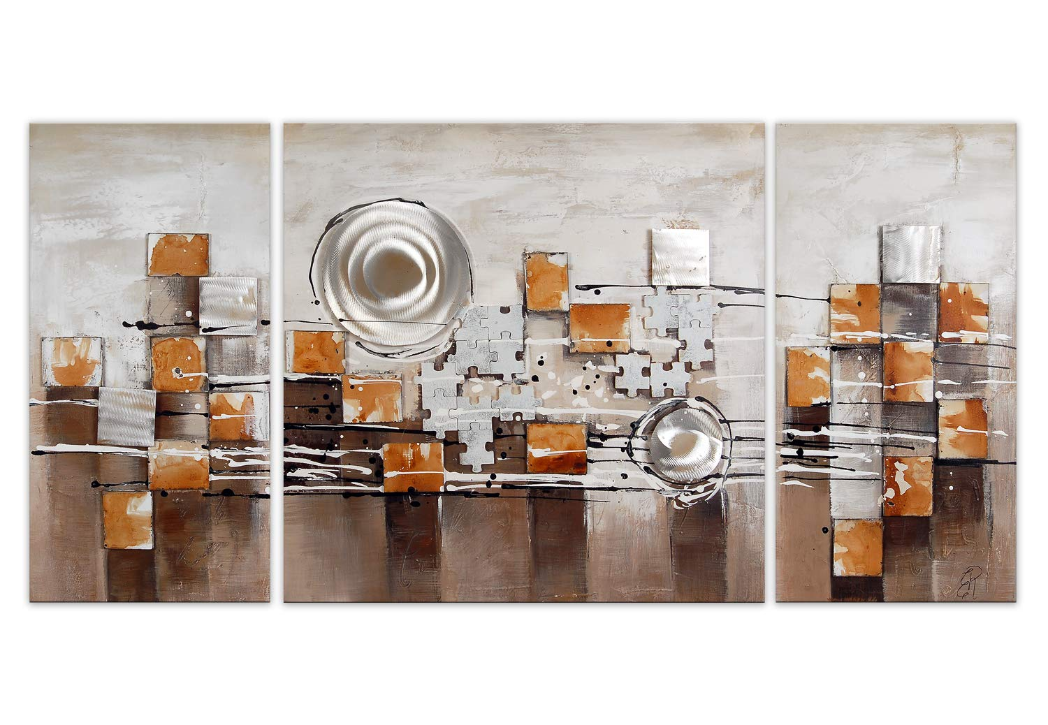 World Art TW60057 Aesthetic Wooden Frame Abstract 70x140x3.5 cm Size: 28 x 56 x 2 Inch