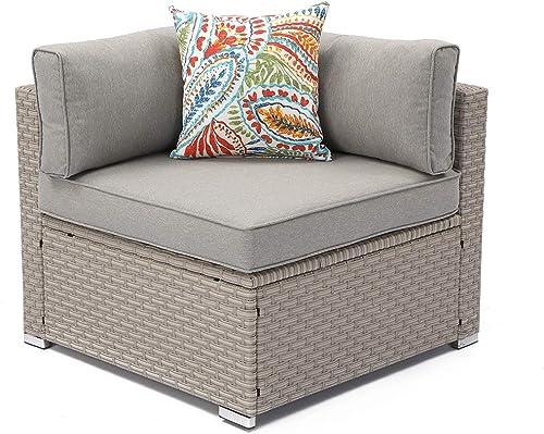 COSIEST Outdoor Furniture Add-on Left Corner Chair