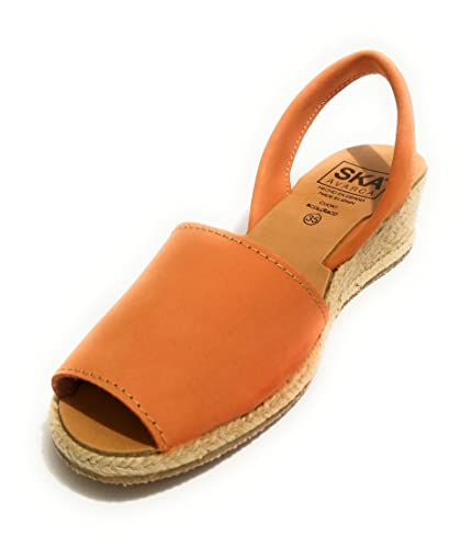 Damen Sandalen Orange Arancione, Orange - Arancione - Größe: 39 EU SKA Shoes