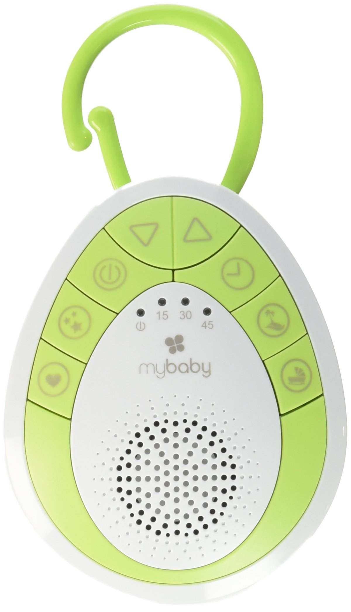 myBaby Soundspa On‐the‐Go, Plays 4 Soothing Sounds, Includes Clip For Strollers, Diaper Bags, Car Seats, Cribs, Auto-off Timer, Lightweight, Perfect for Busy Moms, MYB‐S110