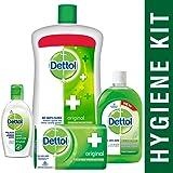 Dettol Sanitizer Original - 50 ml with Handwash Original - 900 ml, Dettol Original Soap - 125g and Multi Hygiene - 200 ml