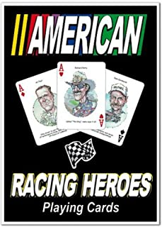 product image for Channel Craft Hero Decks - American Auto Racing - Playing Cards