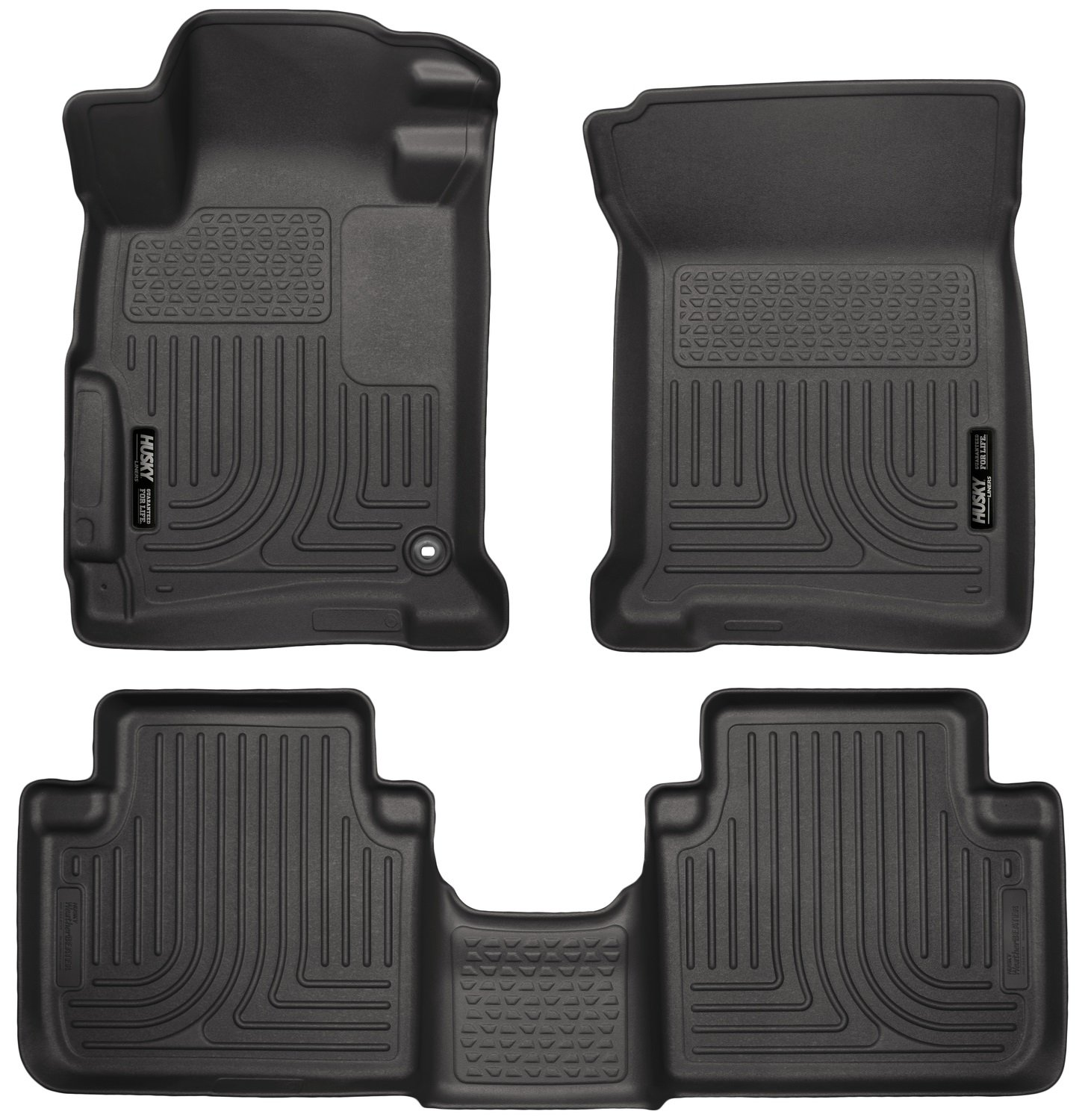 Amazon com husky liners front 2nd seat floor liners fits 13 17 accord sedan automotive