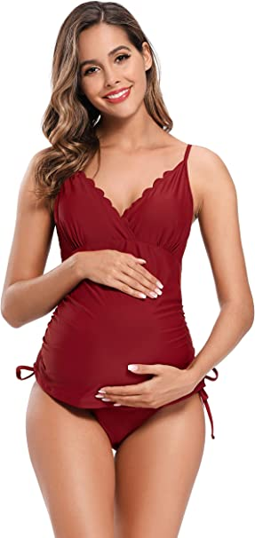 Shekini Mujer Banador Split Maternity Trajes De Bano Tankini Banadores Trajes De Bano De Talla Grande Para Mujer Amazon Es Ropa Y Accesorios