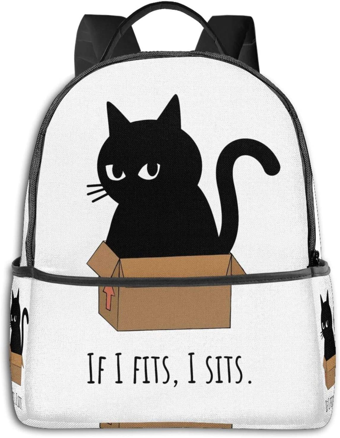 If I S I Sits Bla Cat Student School Bag School Cycling Leisure Travel Camping Outdoor Backpack
