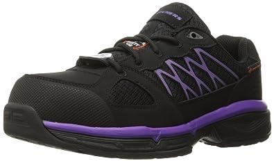 Skechers Work Women's Conroe Kriel Wide Work Shoe,Black/Purple,7 ...