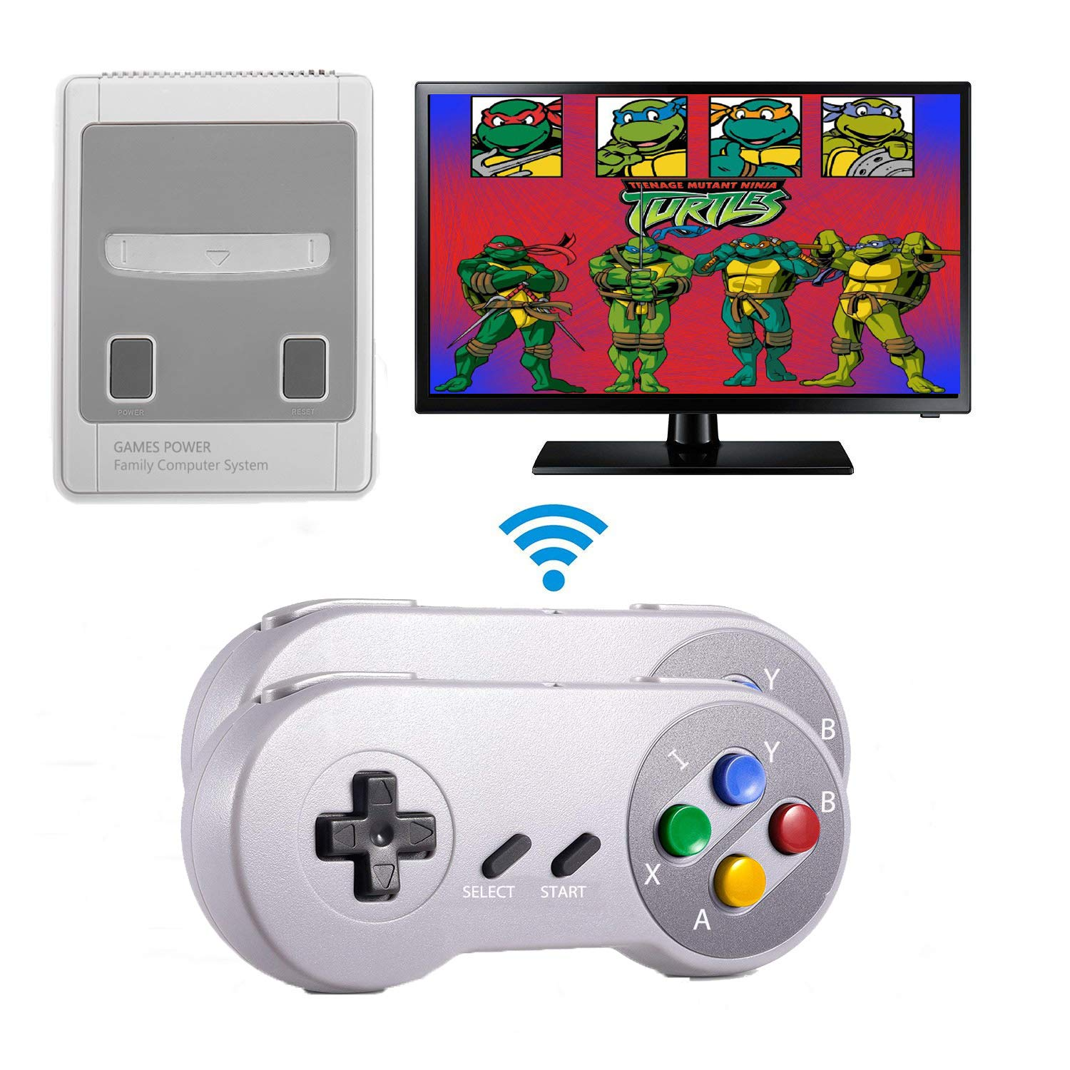 Xinguo Family Classic Game Consoles, Wireless Controller,Childhood Retro Game Console Built-in 557 TV Video Games, with Dual Wireless Controllers. (JP02) by Xinguo (Image #1)