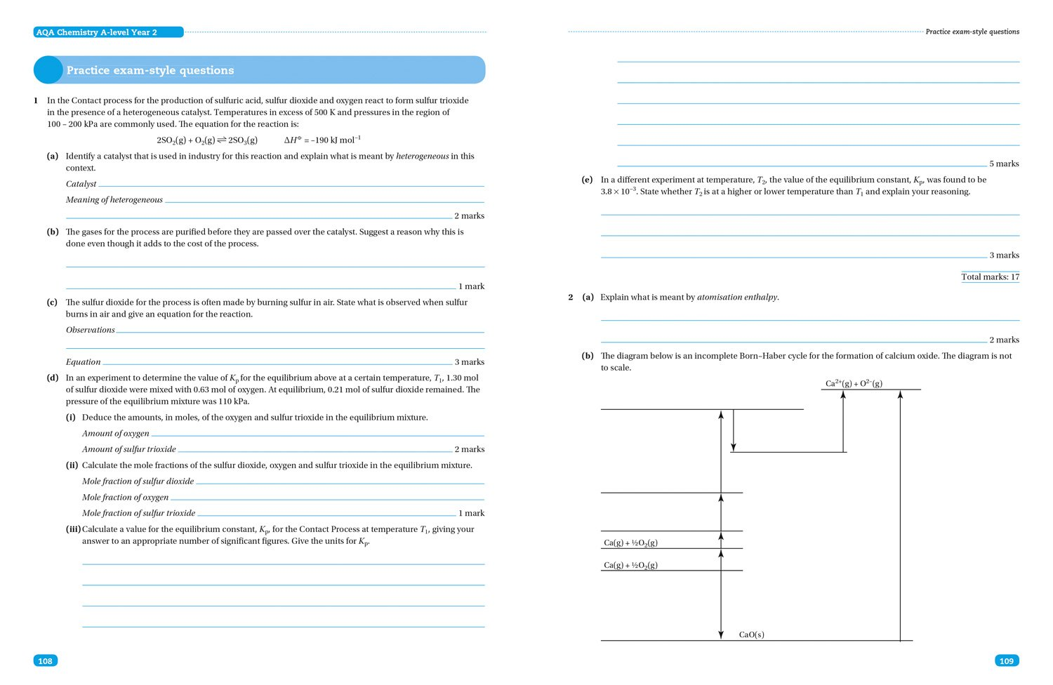 AQA A Level Chemistry Year 2 Paper 1 (Collins Student Support ...