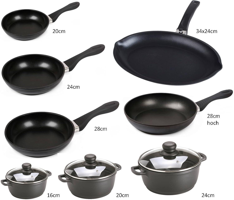 Cooking Pot & Pans Aluminium Crispy SSW–suitable for Induction, Aluminium, Topf 16cm SSW Berlin