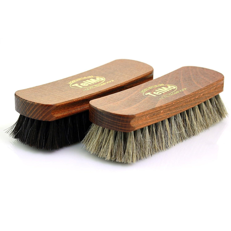 TelMo Polish Set 1 Black Light Polishing Brush Shoe Brush 100/% Horsehair 170/mm