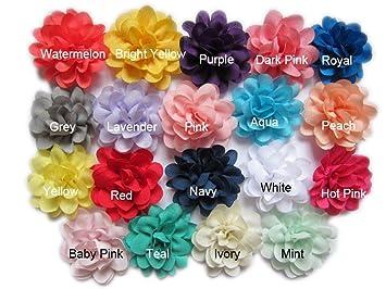Amazon Yycraft Pack Of 38 Satin Silk Flower 2 Hair Flower