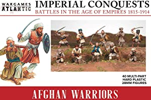 Imperial Conquests - Afghan Warriors - 40 Multi-Part Hard Plastic (HIGH Impact POLYSTYRENE) 28MM Figures
