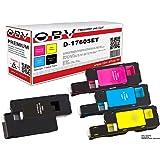 4 x Kompatibler Toner für Dell C1760 C1765 C1760nw C1765nf C1765nfw schwarz, cyan, magenta, gelb
