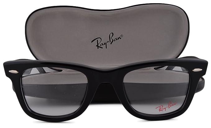 f26653cbbc Ray Ban RX5121 Eyeglasses 47-22-145 Shiny Black 2000 RB5121  Amazon ...