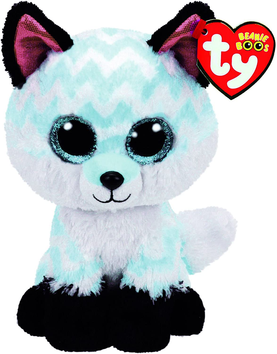 Alaska Stuffed Animals, Amazon Com Claire S Official Ty Beanie Boo Piper The Chevron Fox Soft Plush Toy For Girls Turquoise And White Small 6 Inch Ty Beanies Clothing