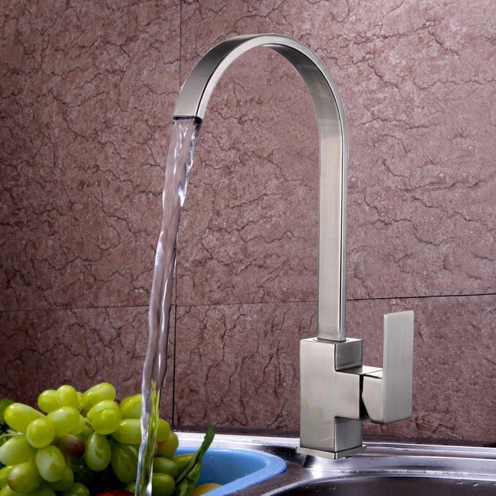 KES Rostfreier Edelstahl 360° Wasserhahn Tischarmatur Einhandmischer ...