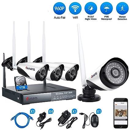 Canavis - Sistema de videocámara de vigilancia de visión nocturna con WiFi 1280 x 960 1
