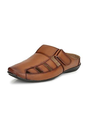 4f6add2339be0f El Paso Men s Tan Artificial Leather Velcro Closure Comfort Casual Sandals