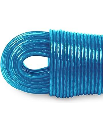 Fiyuer 6 Piezas Tendedero port/átil El/ástico Ajustable Retr/áctil Tendedero port/átil Cuerda de Ropa Nylon L/ínea de lavander/ía,Antideslizante Cuerda Viaje Ropa de Negocios Cord/ón
