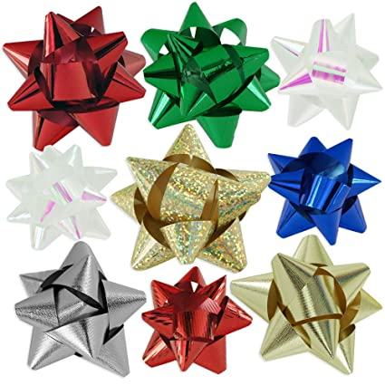Amazon.com 72pc Designer Holiday Christmas Gift Bow Assortment - Elegant Metallic Iridescent Holographic Glitter Lacquer Finishes Home u0026 Kitchen  sc 1 st  Amazon.com & Amazon.com: 72pc Designer Holiday Christmas Gift Bow Assortment ...
