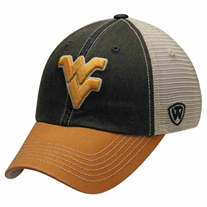 the latest 80a25 15f11 Image Unavailable. Image not available for. Color  West Virginia  Mountaineers Top Of the World Navy Yellow Offroad Snapback Hat Cap