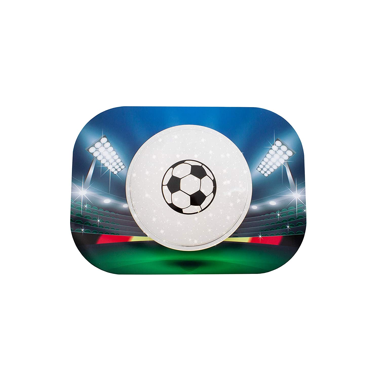 Elobra Fussball Starlight-Effekt LED Deckenleuchte für Kinder, Holz, 14 W, Blau