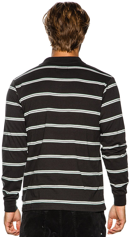6c43bfd50 Amazon.com  New Brixton Men s Noah Ls Polo Knit Cotton Black  Clothing
