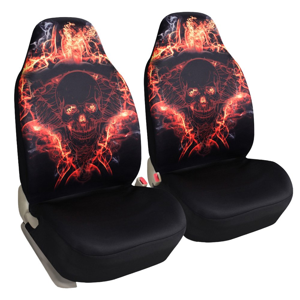Leader Accessories Car Seat Covers Skulls Universal Bucket