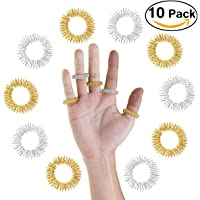 PIXNOR Anneaux de Massage Acupressure 10pcs thérapies alternatives