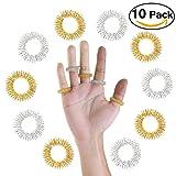 Pixnor 10ST Zufällige Farbe Medizin-Akupressur-Massage Ringe Metallring
