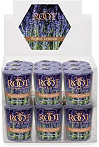 Root Candles 20-Hour Scented Beeswax Blend Votive Candles, 18-Count, English Lavender