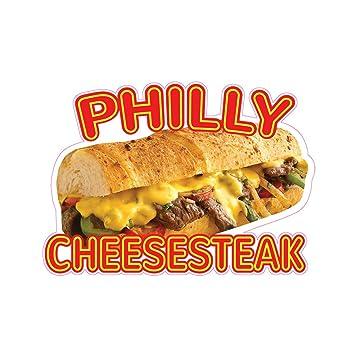 Philly Cheese Steak Concession Restaurant Food Truck Die-Cut Vinyl Sticker
