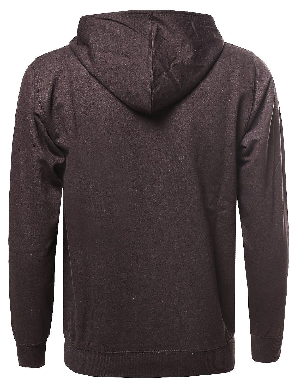 Mens Basic Casual Long Sleeves Kangaroo Pocket Hoodie
