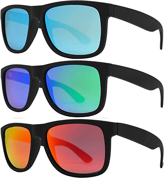 Ricco Miroir Lunettes De Soleil Hommes Femmes Unisexe Rétro Wayfare Summer Polarized UV400