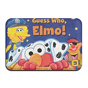 Halloween Sesame Street Elmo Boo Anti Slip House Garden Gate Carpet Door  Mat Floor Pads