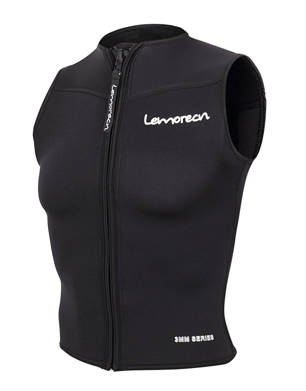 Lemorecn Men Wetsuits Top Premium Neoprene 3mm Zipper Diving Vest (2095,M) by Lemorecn