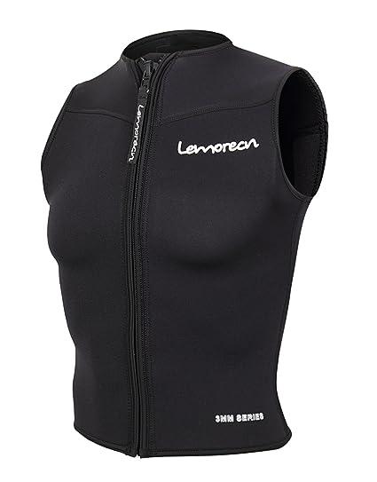 8ef9125e93 Lemorecn Men Wetsuits Top Premium Neoprene 3mm Zipper Diving Vest (2095,S)