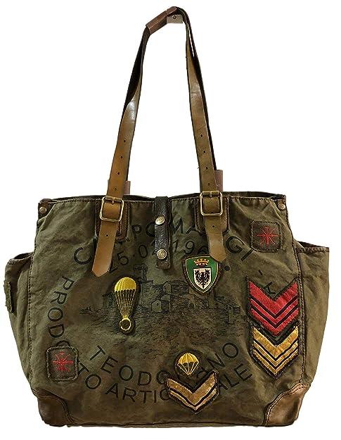 classcic scarpe da corsa sentirsi a proprio agio Campomaggi, Borsa tote donna Verde militare L: Amazon.it ...