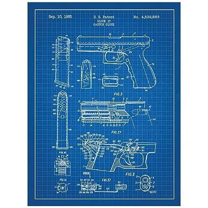 Amazon.com: Inked and Screened Military and Weaponry Glock 17 ... on handgun illustrations, handgun concepts, handgun blueprints, handgun accessories, handgun drawings, handgun diagrams, handgun information, handgun safety, handgun power, handgun prototypes, handgun dimensions, handgun components, handgun parts,