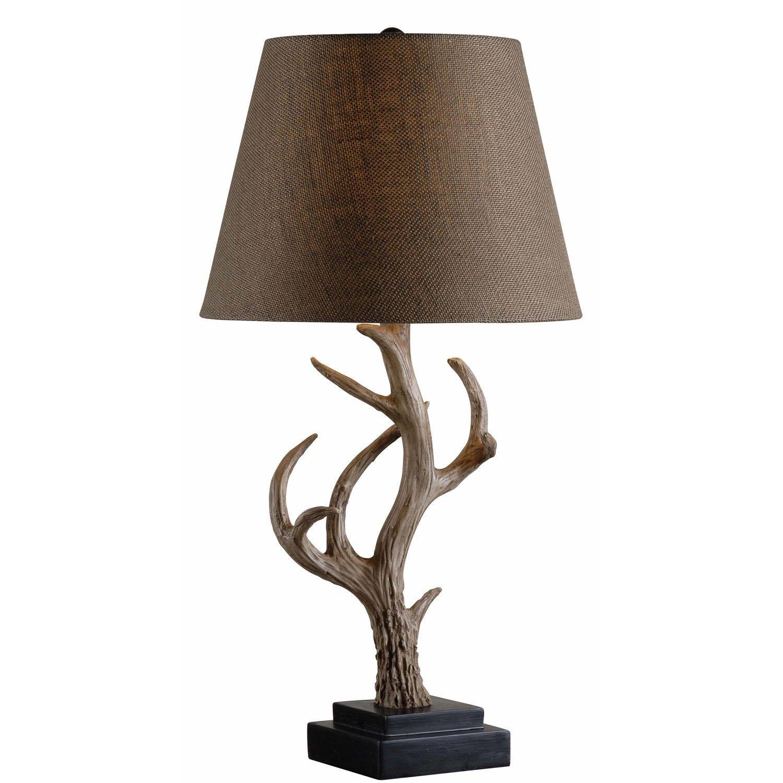 Kenroy Home 32582ANT Buckhorn Table Lamp, 15
